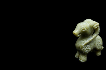 Goat carved by agate stone