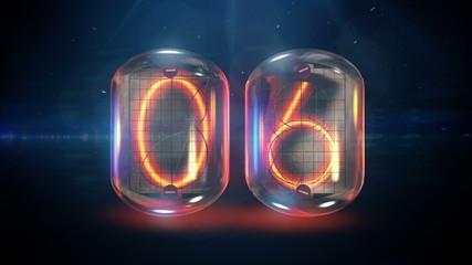 Nixie tube countdown