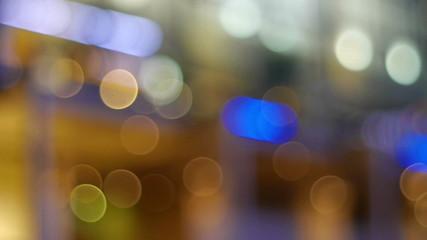 Moving bokeh effect lighting.