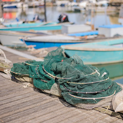 Fishing nets on the quay
