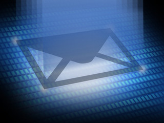 Send email icon digital image