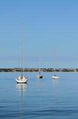 Yachts in sea gulf