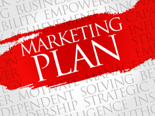 Marketing Plan word cloud, business concept