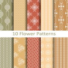 set of teen flower patterns