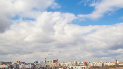 Blue sky with cloud in the city