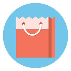 Vector shopping bag