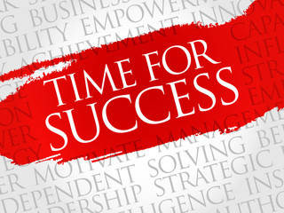 Time for Success word cloud, business concept