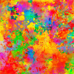 Abstract color splash & watercolor background