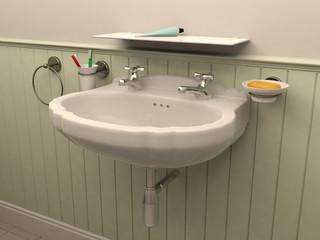 3D rendering bathroom
