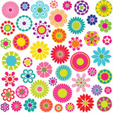 mod flowers vector graphics