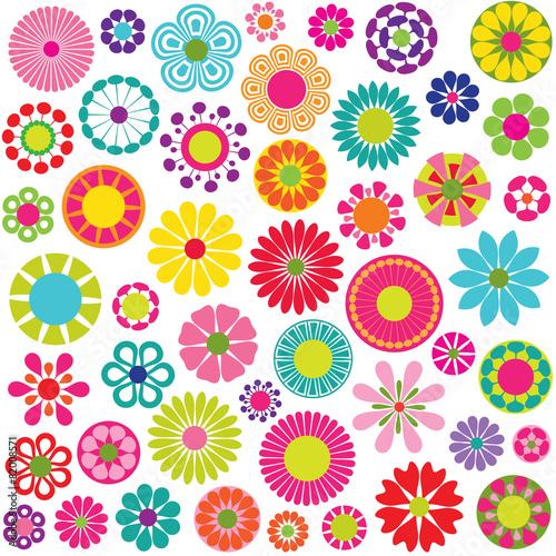 Naklejka mod flowers