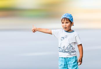 boy vote on city road