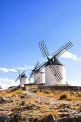Windmills of Campo de Criptana in Spain