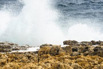 Gischt der Meeresbrandung