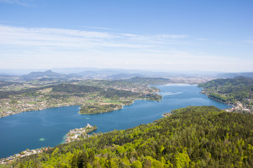 View From Observation Tower Pyramidenkogel To Lake Woerth
