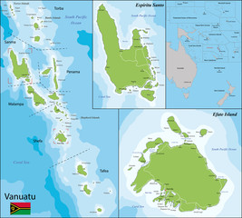 Vanuatu map