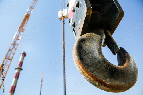 Hook of a mobile lifting crane