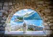 Leinwanddruck Bild - Island monastery St. George near Perast