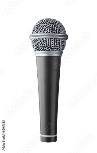 microphone isolated on white background - 82014385