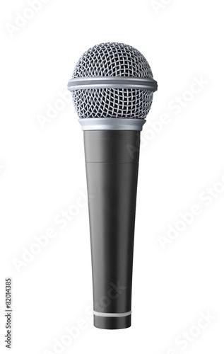 Leinwanddruck Bild microphone isolated on white background