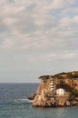 lighthouse at Port de Soller in Mallorca
