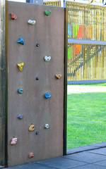Climbing wall in the park