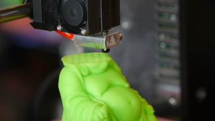 3D printing - Detail of a 3D printer