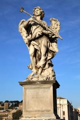 statue Potaverunt me aceto on bridge Castel Sant' Angelo, Rome