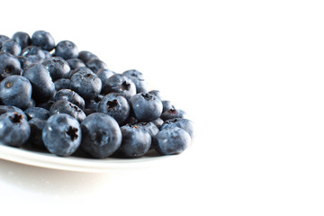 plate with blueberry