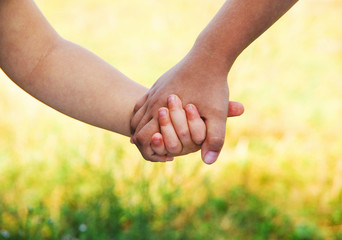 kids join hands