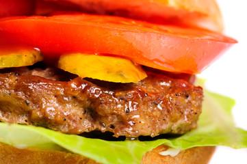 realistic looking hamburger