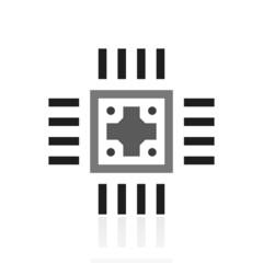 Color Computer Chip icon