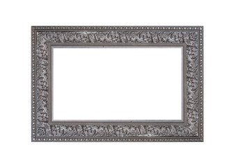 Beautiful vintage frame isolated on white background