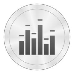 White Equalizer icon