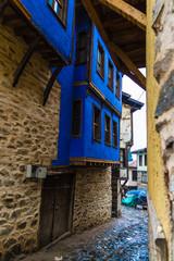 Narrow alley of anatolian village