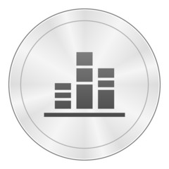 White Column Graph icon