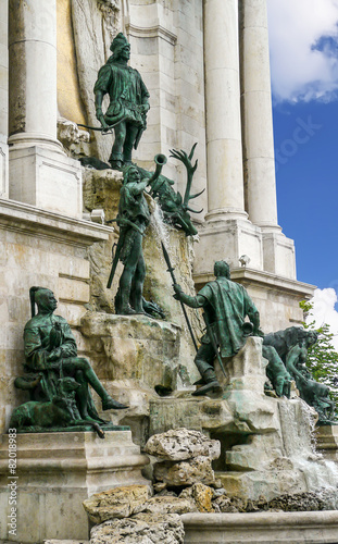 Leinwanddruck Bild Matthiasbrunnen Budapest