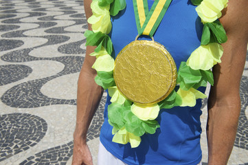Gold Medal First Place Brazilian Athlete Rio