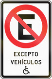 No Parking Except Disabled in Chile poster