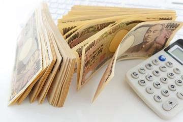 紙幣と計算機