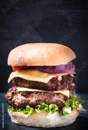 Fotobehang Restaurant Double burger