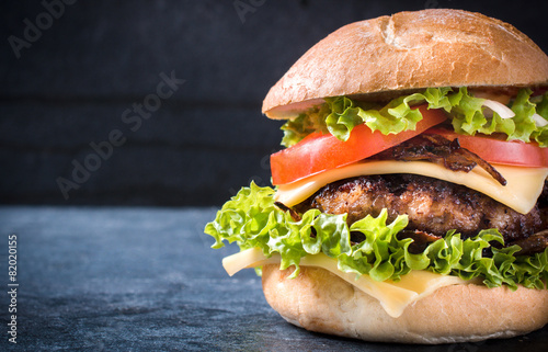 Foto op Canvas Restaurant Beef burger