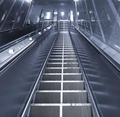 Long Escalator Leading Downwards