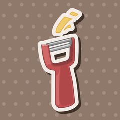 kitchenware peeler theme elements vector,eps