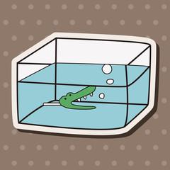 Pet fish bowl theme elements vector,eps10
