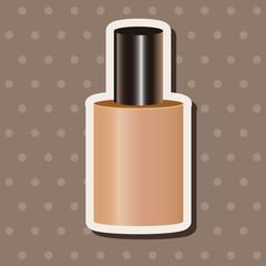 cosmetics foundation theme elements vector,eps