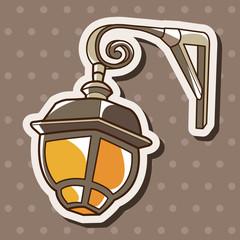 street lamp theme elements vector,eps