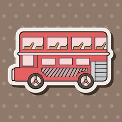Double-decker bus theme elements vector,eps