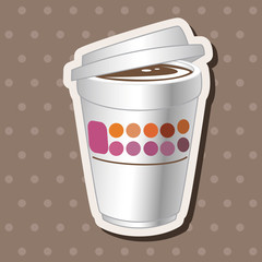 takeaway coffee theme elements vector,eps