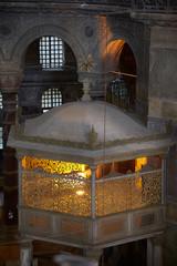 A new sultan's lodge in the interior of Hagia Sophia, Istanbul